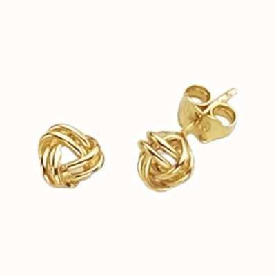 Treasure House 9k Yellow Gold Knot Stud Earrings ER113