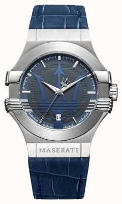 Maserati Mens Potenza 42mm | Stainless Steel | Blue Dial | Blue Strap R8851108015