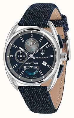 Maserati Trimarano Yatch Timer 41   Blue Dial   Blue Fabric Strap R8851132001