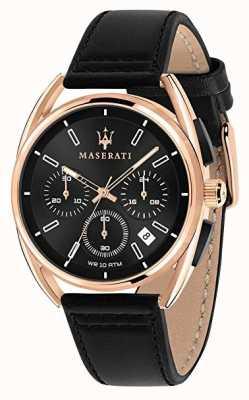 Maserati Mens Trimarano 41mm   Rose Gold Case   Black Dial   R8871632002