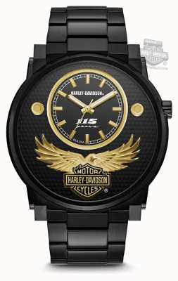 Harley Davidson Men's 115th Anniversary Limited Edition | Black Sunray Dial 78A119