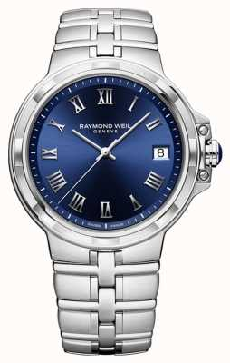 Raymond Weil Parsifal Classic Blue Dial Bracelet Watch 5580-ST-00508