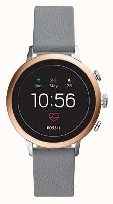 Fossil Connected Q Venture HR Smart Watch Grey Silicone Strap FTW6016