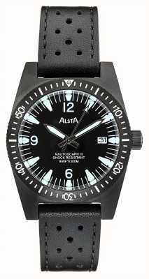 Alsta Nautoscaph III | Black Leather Strap | Black IP Case NAUTOSCAPH III