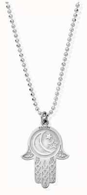 ChloBo Diamond Cut Chain | With Moon And Star Hamsa Hand | Pendant SCDC1655