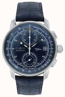 Zeppelin 100 Years Chronograph Date Display Blue Dial 8670-3