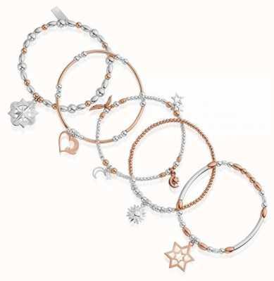 ChloBo Inner Spirit | Rose And Silver | Stack Of 5 Bracelets MBSTA5IS
