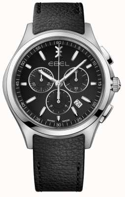 EBEL | Mens Chronograph Watch | Black Leather Strap | 1216343