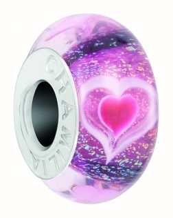 Chamilia Heartbeats Charm | Murano And Dichroic Glass 2110-1306