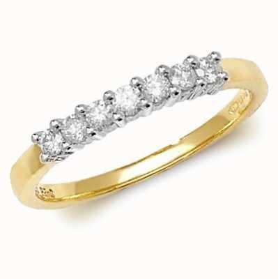 James Moore TH 9k Yellow Gold Diamond Half Eternity Ring RD144