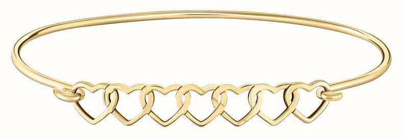 Chamilia | Interlocking Hearts ID Bangle | Gold Plated | 1010-0489