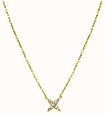 "Adore By Swarovski 4 Point Star Necklace 16-18"" Gold Plated 5259848"