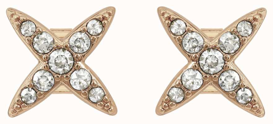 Adore By Swarovski 4 Point Star Earrings Rose Gold Plated 5303133
