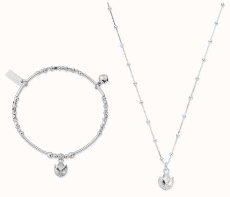 ChloBo | Silver Beautiful Soul Set | Necklace & Bangle SBNVAL19