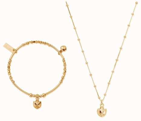 ChloBo   Gold Beautiful Soul Set   Necklace & Bangle GBNVAL19