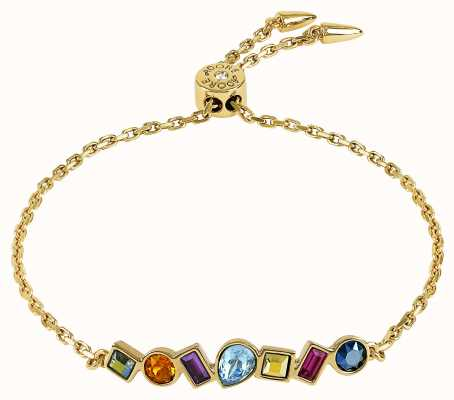 Adore By Swarovski Mixed Crystal Bar Bracelet Gold Plated 5375518
