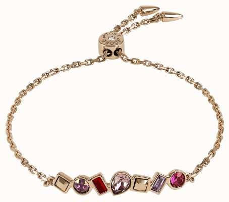 Adore By Swarovski Mixed Crystal Bar Bracelet Rose Gold Plated 5375519