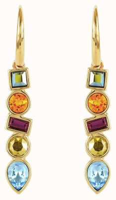 Adore By Swarovski Mixed Crystal French Wire Earrings Gold Plated 5375526