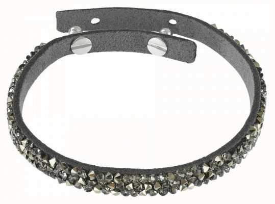 Adore By Swarovski Skinny Crystal Fine Rock Suede Bracelet Dark Grey 5275209