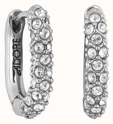 Adore By Swarovski Lozenge Pavé Earrings Rhodium Plated 5448755