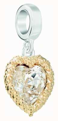Chamilia | Swarovski Gold Crystal Heart Charm | 4010-0462