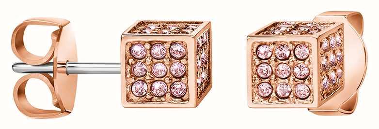 Calvin Klein | Womens Rocking | Rose Gold Earrings | Swarovski | KJ9CPE140100