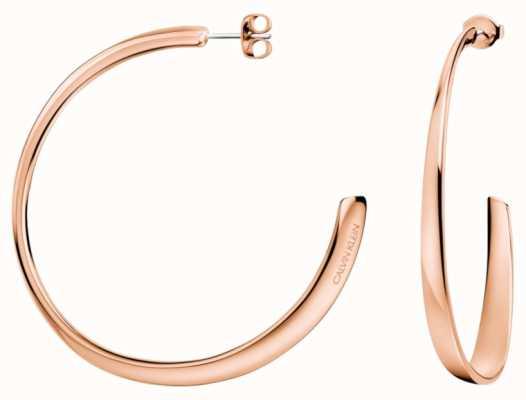 Calvin Klein | Womens Groovy | Rose Gold Earrings | KJ8QPE100100