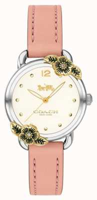 Coach | Womens Delancey Watch | Pink Leather And Stainless Steel | 14503239