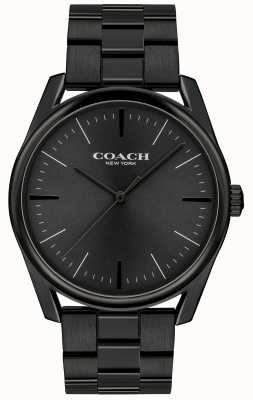 Coach Mens Modern Luxury Black Stainless Steel 14602403