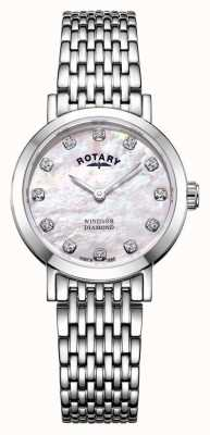 Rotary | Womens Mother Of Pearl Watch | LB05300/07/D