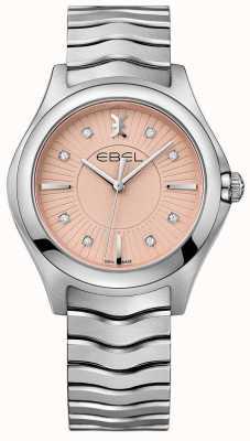EBEL Wave Stainless Steel Bracelet Pink Dial 1216303