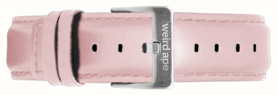 Weird Ape | 16mm Pastel Pink Leather Strap | Silver Steel Buckle | ST01-000053