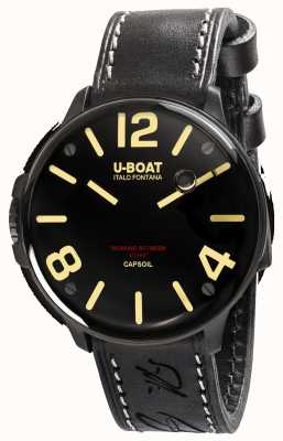 U-Boat Capsoil DLC Electromechanics Black Leather Strap 8108