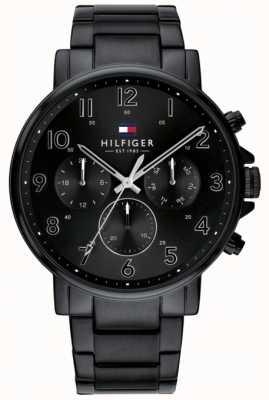 Tommy Hilfiger | Men's Black Daniel Watch IP finish | 1710383