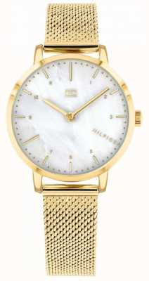 Tommy Hilfiger |Womens Gold Mesh Lily Watch | 1782043