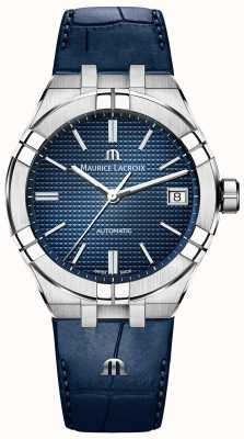 Maurice Lacroix Aikon Automatic Blue Dial Blue Leather Strap AI6007-SS001-430-1