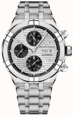 Maurice Lacroix Aikon Automatic Chronograph Panda Dial Stainless Steel AI6038-SS002-132-1