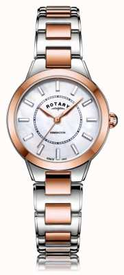 Rotary | Ladies Two Tone Rose Gold Bracelet | LB05377/41