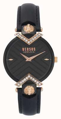 Versus Versace   Ladies Black Leather Strap   VSPLH1419