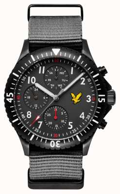 Lyle & Scott Mens Golden Eagle Grey Nato Strap Black Dial LS-6008-03