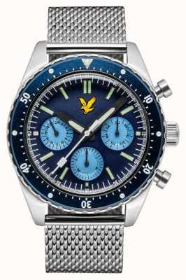 Lyle & Scott Mens Highland Stainless Steel Mesh Bracelet Blue Dial LS-6011-22