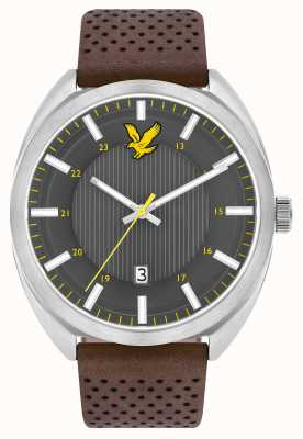 Lyle & Scott Mens Tevio Brown Leather Strap Grey Dial LS-6015-01
