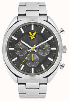 Lyle & Scott Mens Tevio XE Stainless Steel Bracelet Grey Dial LS-6016-11