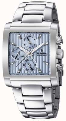 Festina | Mens Stainless Steel Chronograph | Light Blue Dial | F20423/1
