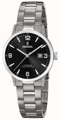 Festina | Womens Titanium Watch | Black Dial | Titanium Bracelet | F20436/3