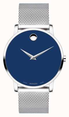 Movado | Bold Museum | Stainless Silver Mesh Strap | Blue Dial | 0607349