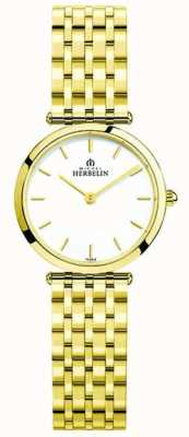 Michel Herbelin   Womens   Epsilon   Extra Flat Gold PVD Bracelet   17116/BP11