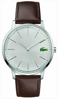 Lacoste | Mens Moon | Brown Leather Strap | Silver Dial | 2011002