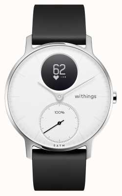 Withings Steel HR 36mm White Dial Black Silicone Strap HWA03B-36WHITE-ALL-INTER