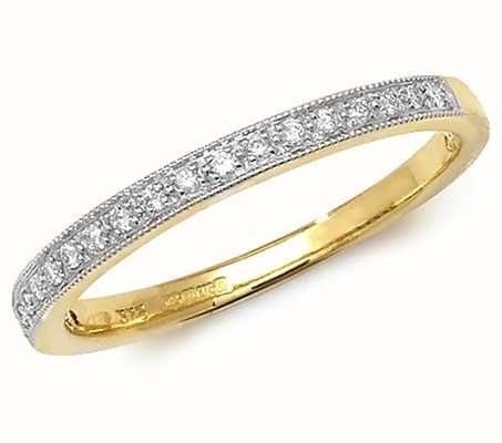 Treasure House 9k Yellow Gold Diamond Eternity Grain Set Ring RD388/M